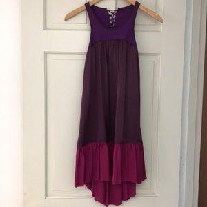 Dallin Chase mini tie back dress